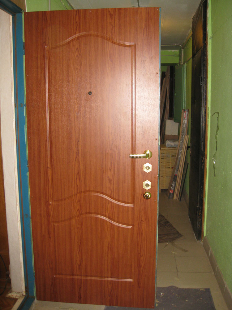 Установка мдф панели на металлическую дверь своими руками 18