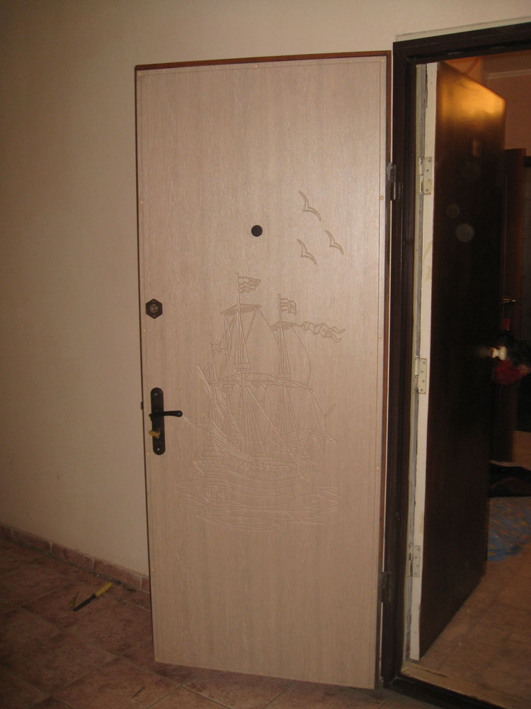 Установка мдф панели на металлическую дверь своими руками 49