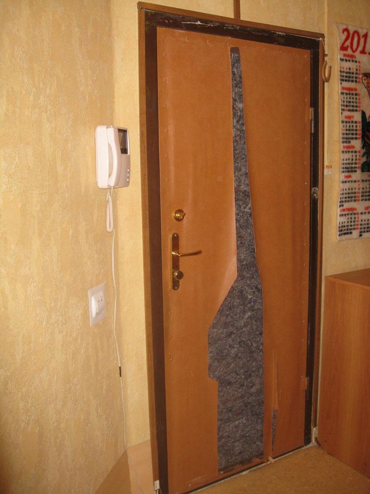 установка мдф на металлическую дверь