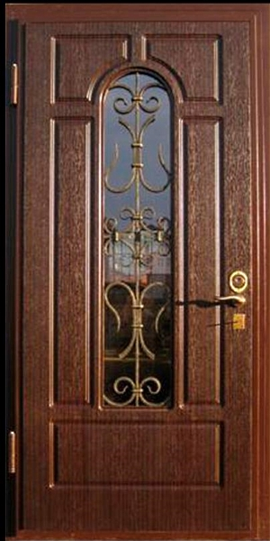 входные металлические двери со стеклом в лобне