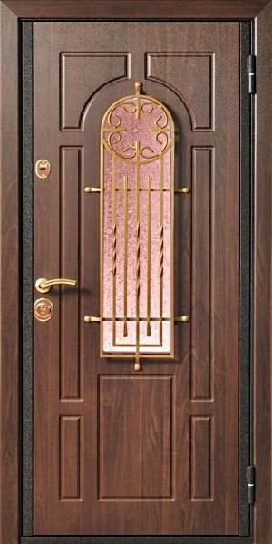входные металлические двери в квартиру с окошком