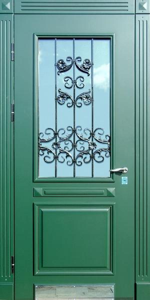 металлические двери с металлическим окном