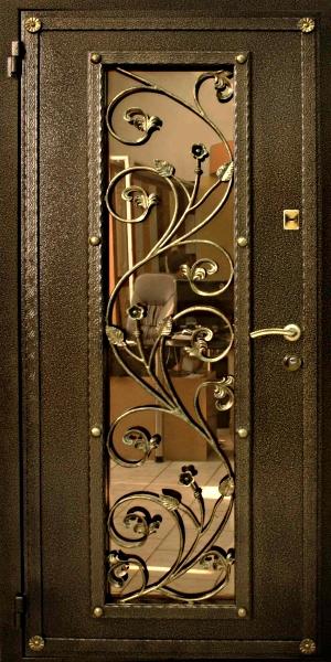 входные двери из металла и стекла