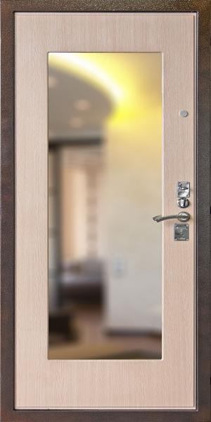 железная дверь с зеркалом м 3