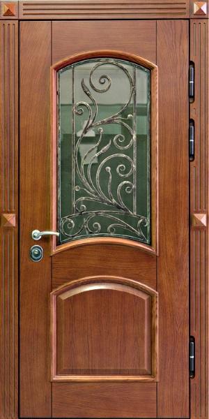 стальная дверь со стеклопакетом п