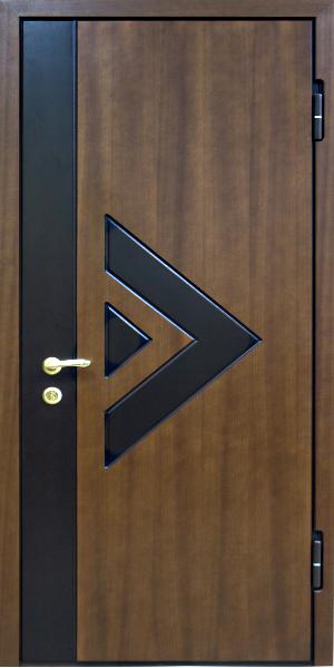 красивые стальные двери с двух сторон отделка мдф п м с