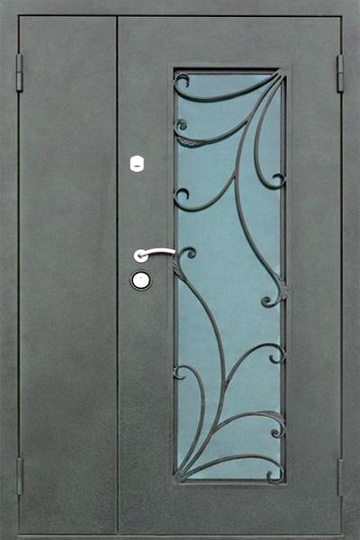 нестандартные двери металлические тамбурные двухстворчатые